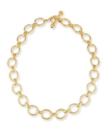 "Elizabeth Locke 17"" 19K Gold Smooth Link Necklace"