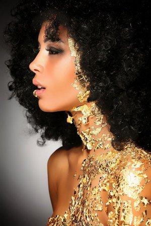 gold glitter on black women photo shoots - Google Search