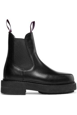 Eytys | Ortega leather platform boots | NET-A-PORTER.COM