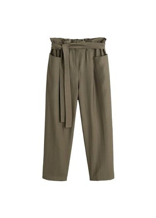 MANGO Soft pocketed trousers
