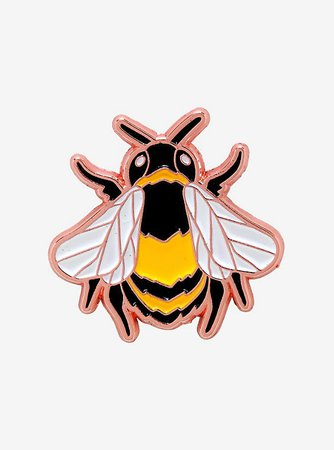 Bee Rose Gold Enamel Pin