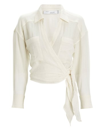 IRO | Emain Wrap Blouse | INTERMIX®