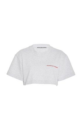 Chynatown Cropped Printed Cotton-Jersey T-Shirt by Alexander Wang | Moda Operandi