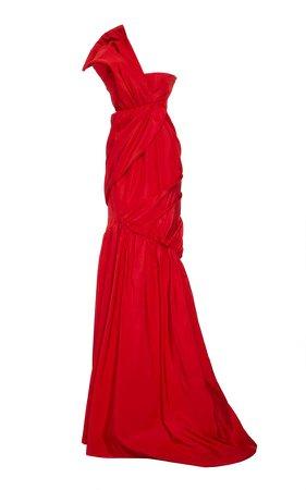 Aliétte Bow On Shoudler Silk Dress Size: 0