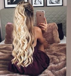 Curly Half Ponytail