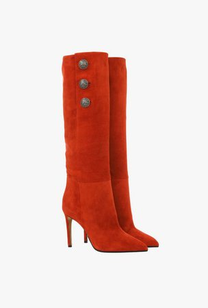   Jane Rust Suede Ankle Boots  for Women - Balmain.com