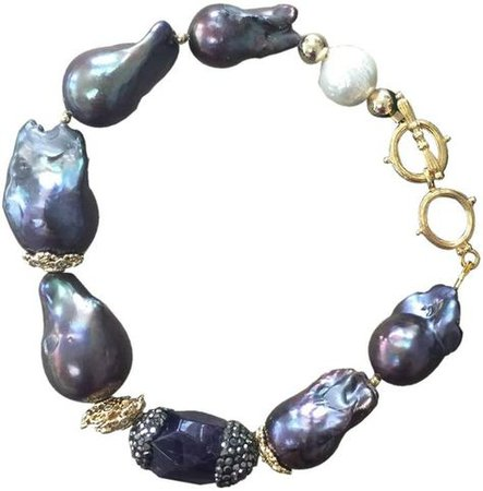 natural baroque pearl bracelet