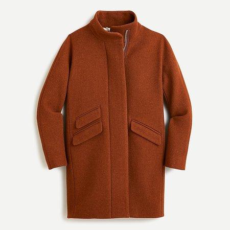 J.Crew: Cocoon Coat In Italian Stadium-cloth Wool For Women brown
