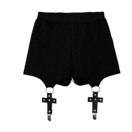 Gothic Punk Harajuku Sexy Cross Shorts – ROCK 'N DOLL