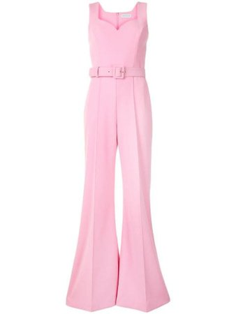Rebecca Vallance Baci flared-leg jumpsuit pink 20046046 - Farfetch