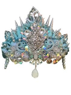 Mermaid Crown, Shell Crown, Seashell Crown, Mermaid Headpiece, Crowns and Tiaras, Gifts For Her, Mermaid Costum… | s c a r l e t h a r l o w : design. | Pinte…