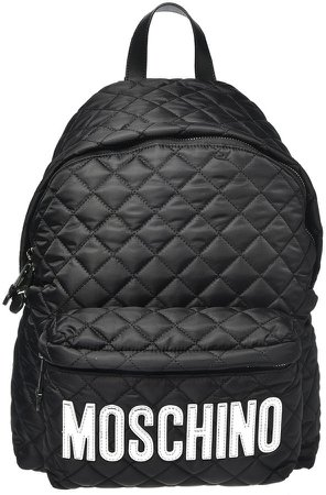 Logo Quilted Nylon Backpack