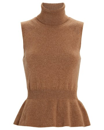 Veronica Beard Noor Sleeveless Cashmere Sweater | INTERMIX®