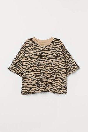 Oversized T-shirt - Beige