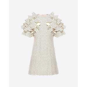 для женщин Платье в мелкий горошек | Valentino Online Boutique