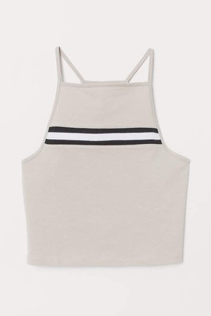 Short Tank Top - Brown