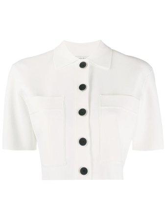 Sandro Paris Lann shirt white SFPCA00203 - Farfetch