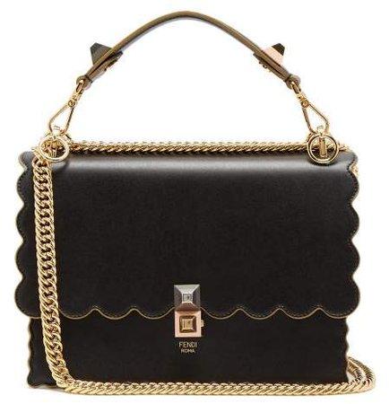 Kan I Leather Shoulder Bag - Womens - Black