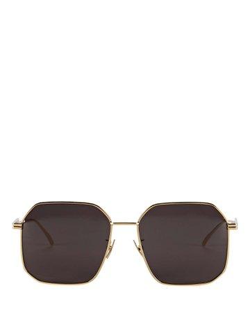 Bottega Veneta Wire Rounded Square Sunglasses | INTERMIX®