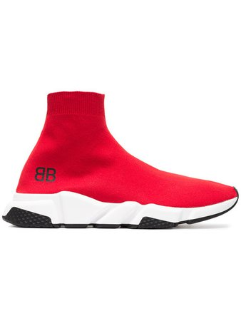 $750 Balenciaga Red Speed Low Sneakers - Buy Online - Fast Delivery, Price, Photo