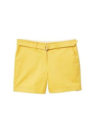 MANGO Belt cotton-blend short