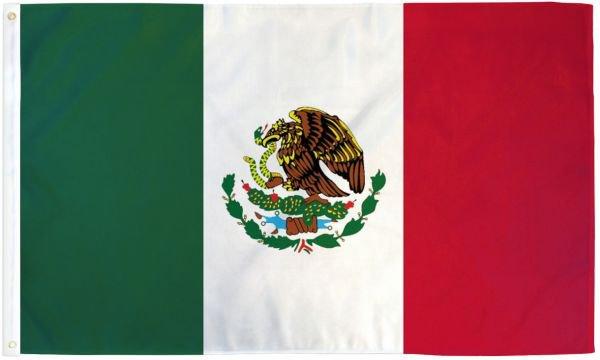 Mexico Flag 5x8ft Poly