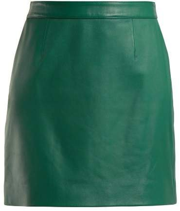 Leather Mini Skirt - Womens - Green