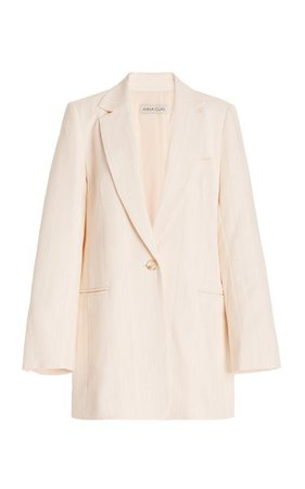Gianna Long Twill Blazer By Anna Quan   Moda Operandi