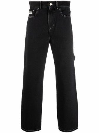 Gcds mid-rise straight-leg jeans - FARFETCH
