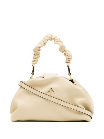Manu Atelier Demi Ruched Shoulder Bag - Farfetch