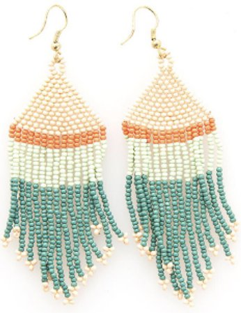 Peach and mint earrings Ink And Alloy