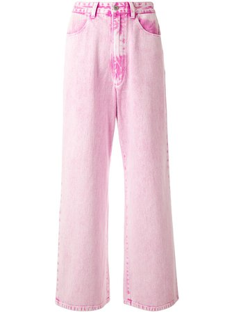 Ground Zero High Rise Wide Leg Jeans Ss20   Farfetch.Com