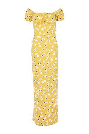 Off The Shoulder Floral Print Maxi Dress | boohoo