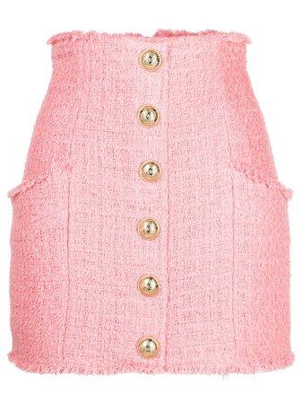 Balmain high-waisted Tweed Skirt - Farfetch