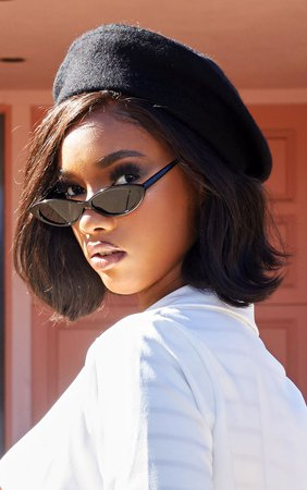 Black Felt Beret | PrettyLittleThing USA