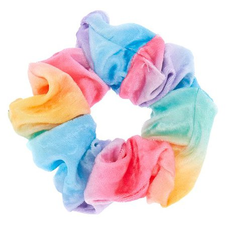 Pastel Rainbow Velvet Hair Scrunchie Icing Stores
