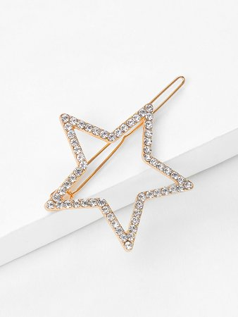 Rhinestone Star Shaped Hair Clip