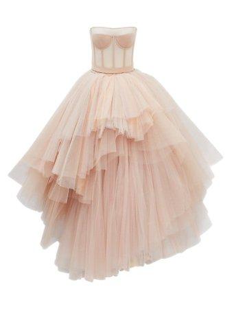 Alexander McQueen Strapless Corset Tulle Gown   SaksFifthAvenue