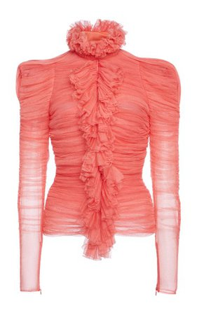 Ruched Silk-Blend Blouse By Tom Ford | Moda Operandi