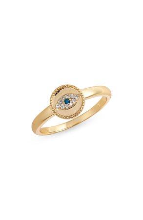 gorjana Evil Eye Coin Ring