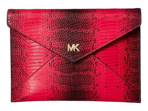 MICHAEL Michael Kors - Barbara Medium Soft Envelope Clutch (Ultra Pink) Clutch Handbags
