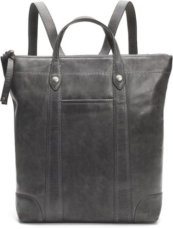 Melissa Zip Leather Backpack