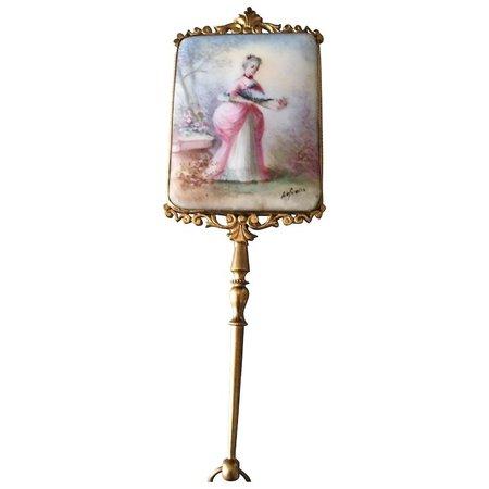 Beautiful 19th century Limoges mirror ideal for dolls : Daisydoradolls | Ruby Lane