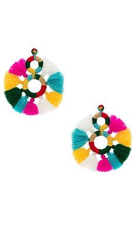 All Things Mochi Dream Catcher Earrings in Multi   REVOLVE