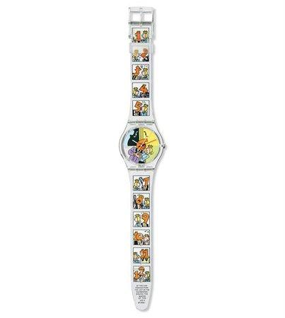 Swatch watch comic