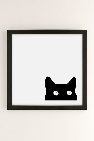 Shannon Lee Black Cat Art Print | Urban Outfitters Canada
