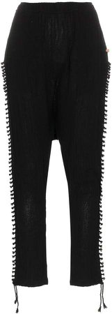 black cotton Jute trousers