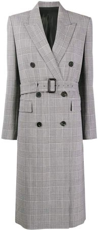 Houndstooth Belted Coat