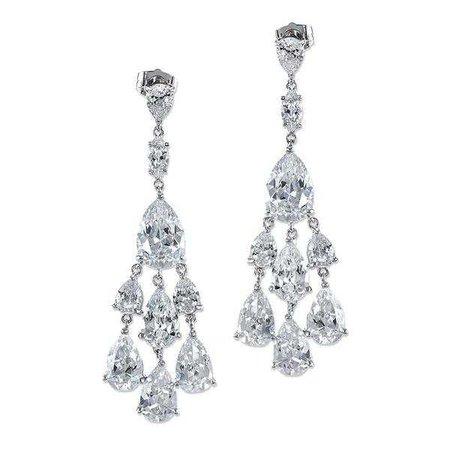 Earrings | Shop Women's Fringe Zircon Earring Ring Jewelry Set at Fashiontage | KE1060_CLSI