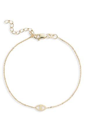 Adina's Jewels Open Evil Eye Bracelet | Nordstrom